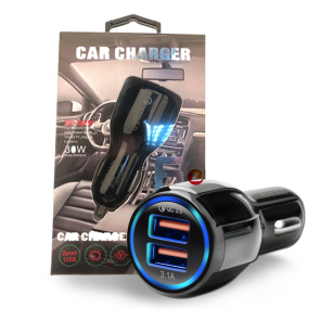 2 Port USB Car Charger 6A QC 3.0, Qualcomm LZ-681