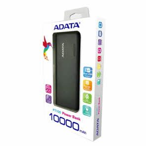 Power Bank, 10000mAh Fast Charging 2.1A, ADATA PT100