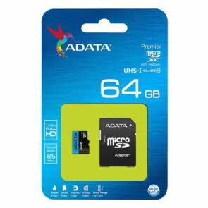 ADATA 64GB Premier microSDHC/SDXC with Adapter