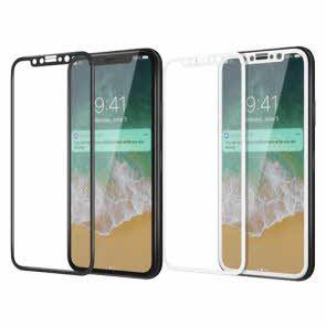 IPhone X-3D Full Cover Temper Glass-White