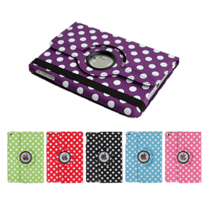 IPad Air 2-360 Rotating Polka Dot Case