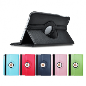 "Galaxy Tab E 8"" SM-T377-360 Rotating Leather Case"