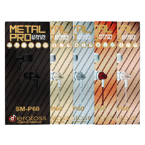 Metal Pro Earbuds w/Mic, eratoss_SM-P60