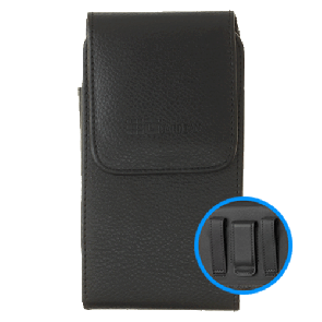 Vertical Leather Pouch Belt Holster, V01